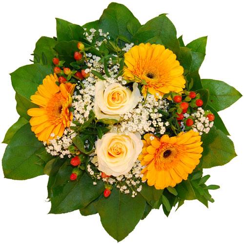 Blumenstrauss mit weissen rosen