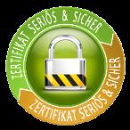 Zertifikat Seriös & Sicher