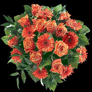 Blumenstrauss Blumenstrauß Orange Fire