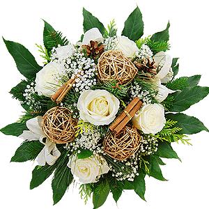 Blumenstrauss Blumenstrau� Wei�e Weihnacht